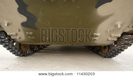 Tracks Of The Modern Russian Army Tank Close