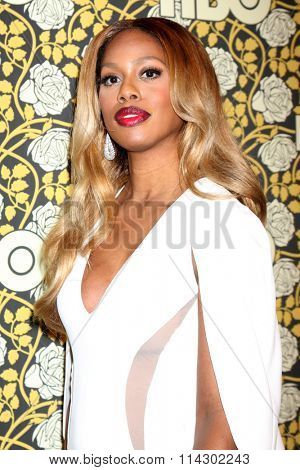 LOS ANGELES - JAN 10:  Laverne Cox at the HBO Golden Globes After Party 2016 at the Beverly Hilton on January 10, 2016 in Beverly Hills, CA