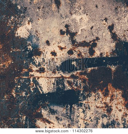 ..abstract Large Rust Surface Background. Grungy Background With Space For Text Or Image. Dark Vinta