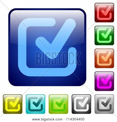 Color Checkmark Square Buttons