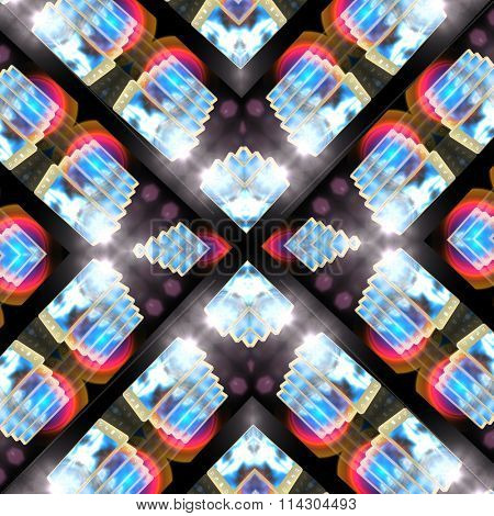 abstract kaleidoscopic background, repeating pattern