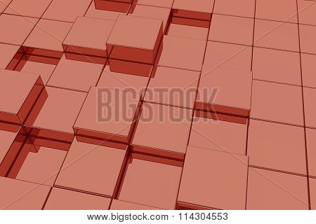 Red Glassy Cubes