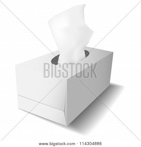 Carton Box For Tissues Template