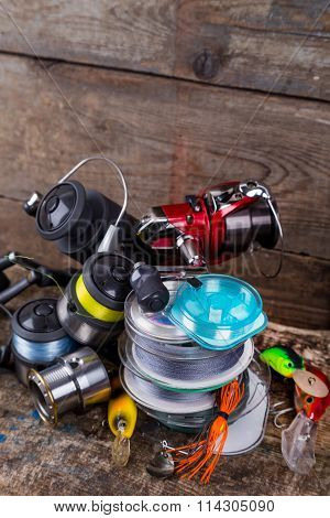Sport Fishing Tackles, Baits, Reels, Spool With Line