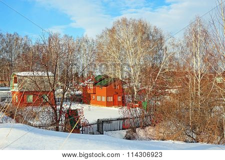 Garden Society With Buildings Of The Soviet Times