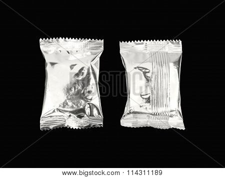 Foil Snack Package Isolated
