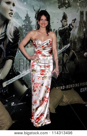 HOLLYWOOD, CALIFORNIA - March 23, 2011. Carla Gugino at the Los Angeles premiere of