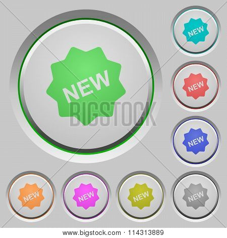 New Badge Push Buttons
