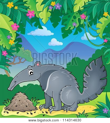 Anteater theme image 2 - eps10 vector illustration.