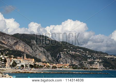 Picturesque Resort Town On Sea