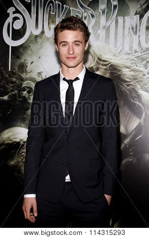 HOLLYWOOD, CALIFORNIA - March 23, 2011. Max Irons at the Los Angeles premiere of