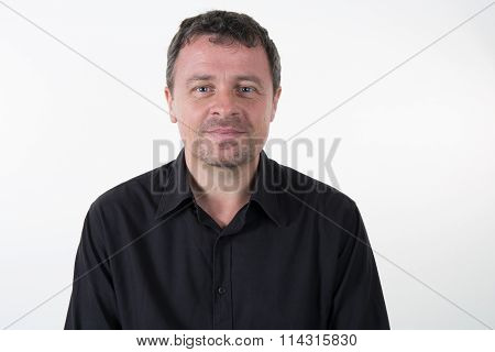 Cheerful Man, Isolated Over White Background