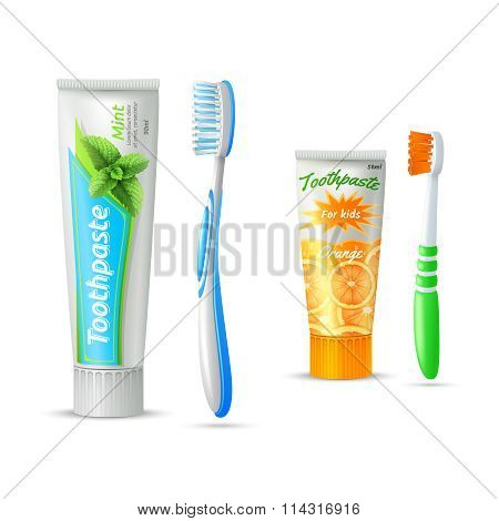 Toothpaste And Toothbrush For Kids And Adults