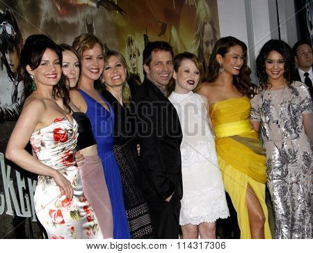Jena Malone, Carla Gugino, Abbie Cornish, Emily Browning, Jamie Chung and Vanessa Hudgens at the LA premiere of