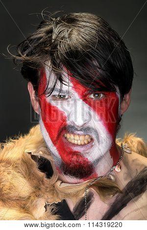 Portrait Of Furious Warrior