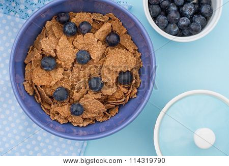 Healthy Bran And Blueberry Breakfast