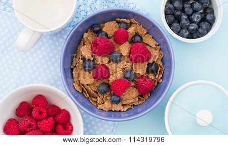 Healthy Bran And Berry Breakfast.