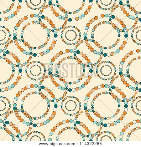 Colored Circles On A Light Background Tender Seamless Pattern Vector Illustration
