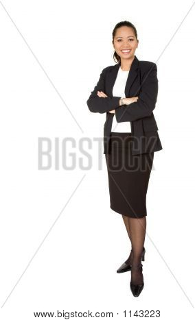 Asian Business Woman - Full Body
