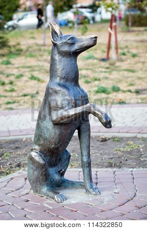 Monument to the dog Jim. Belgorod. Russia