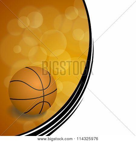 Background abstract orange black sport basketball ball illustration vector