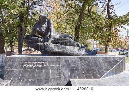 Monument The Mass Grave Of Seamen Of Participants Of Landing Operation In 1919. Volgograd, Russia