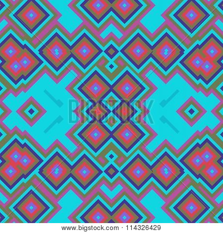 Abstract tileable geometrical pink blue design