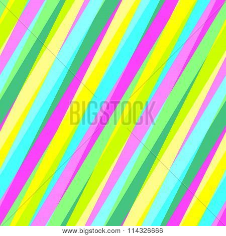 Abstract seamless yellow turquoise green purple striped pattern