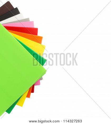 Top View Of Colorful  Corrugated Plastic Sheets