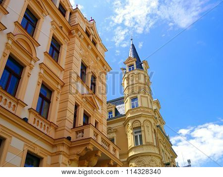 Beautiful Colourful Architectures Of Karlovy Vary In Czech Republic