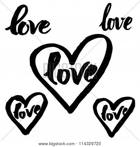 calligraphy sign - LOVE