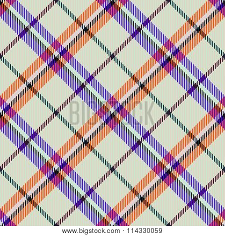 Abstract checkered modern seamless diagonally pattern with fabric texture