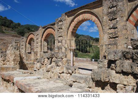 Moorish arches, Medina Azahara.