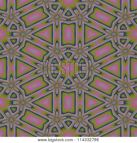 Abstract ornamental seamless pattern in secession style