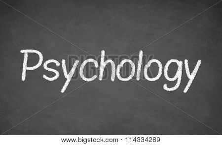 Psychology lesson on blackboard or chalkboard.
