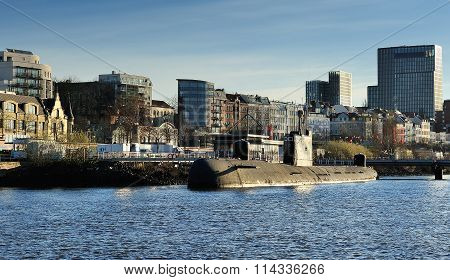Russian Submarine B-515 Is Currently Docked In Hamburg, Germany
