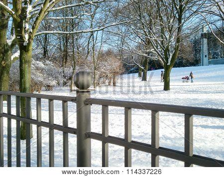 Winter In Volkspark Friedrichshain, Berlin, Germany