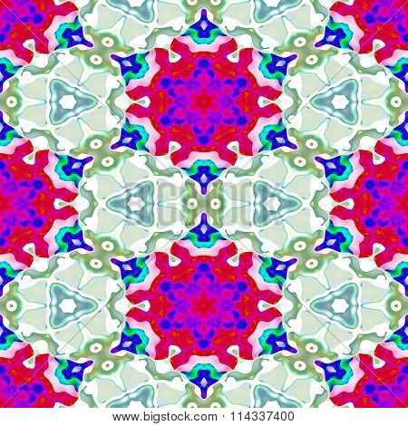 Kaleidoscopic decorative floral fractal arabian tile