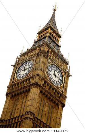 Big Ben sobre blanco