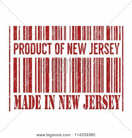 Product Of New Jersey, Made In New Jersey Barcode