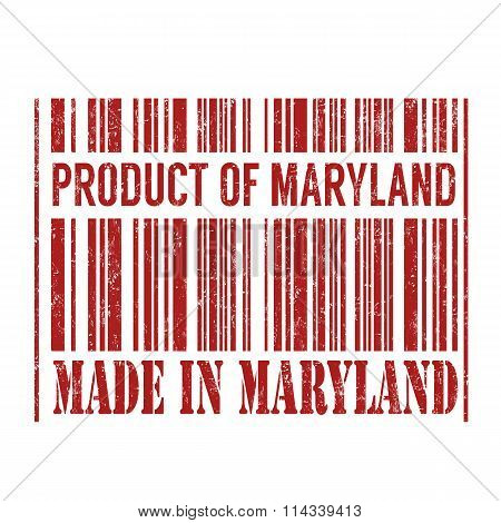 Product Of Maryland, Made In Maryland Barcode