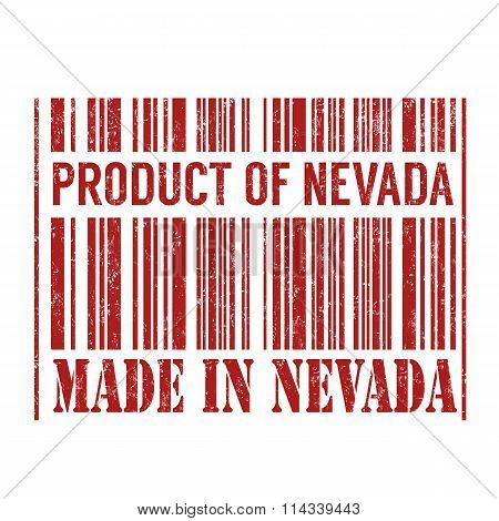 Product Of Nevada, Made In Nevada Barcode