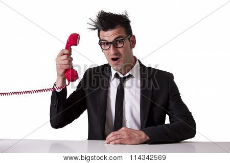 businessman and phone