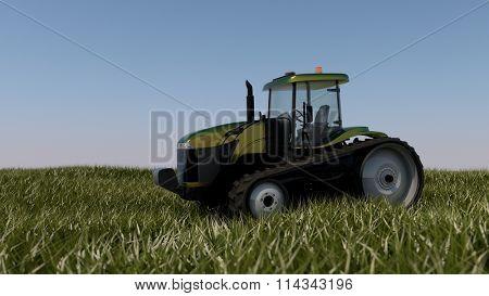 general catepillar tractor in field