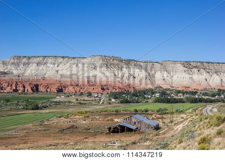 Farm Along Scenic Byway In Utah, Usa