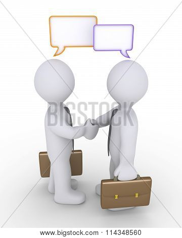 Bussinesmen Agreement And Speech Bubbles