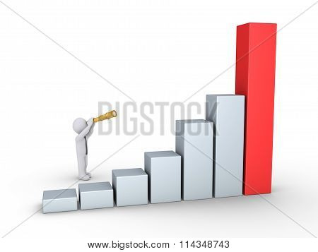 Businessman Looking At Good Results Graph