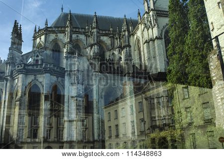 Nantes (france): Buildings And Reflections