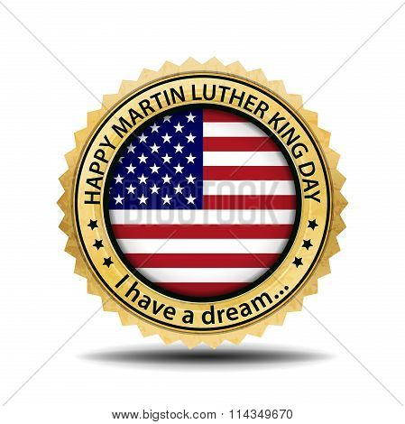 Martin Luther King Day Emblem. Vector Label For Mlk Day.  Usa