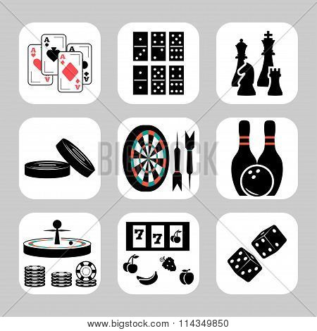 Vector Games Related Icon Set. Vector Symbols. Vector Illustration
